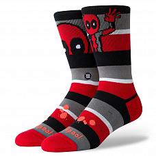 Носки STANCE DISNEY MENS DEADPOOL STRIPE FW20 от Stance в интернет магазине www.b-shop.ru